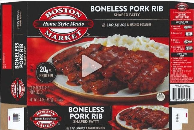 Boston Market Recall
